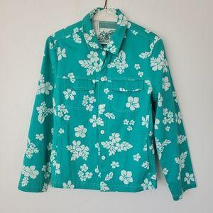 Pendleton - Vintage Floral Teal Button Down